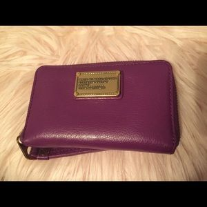 Marc by Marc Jacobs purple cell wallet